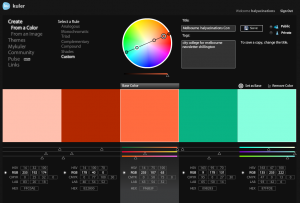 Colour Wheels and selection criteria