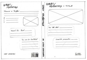 Early sketching of book cover design